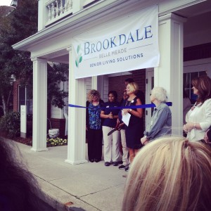 Ribbon cutting of the newly-branded Brookdale Belle Meade