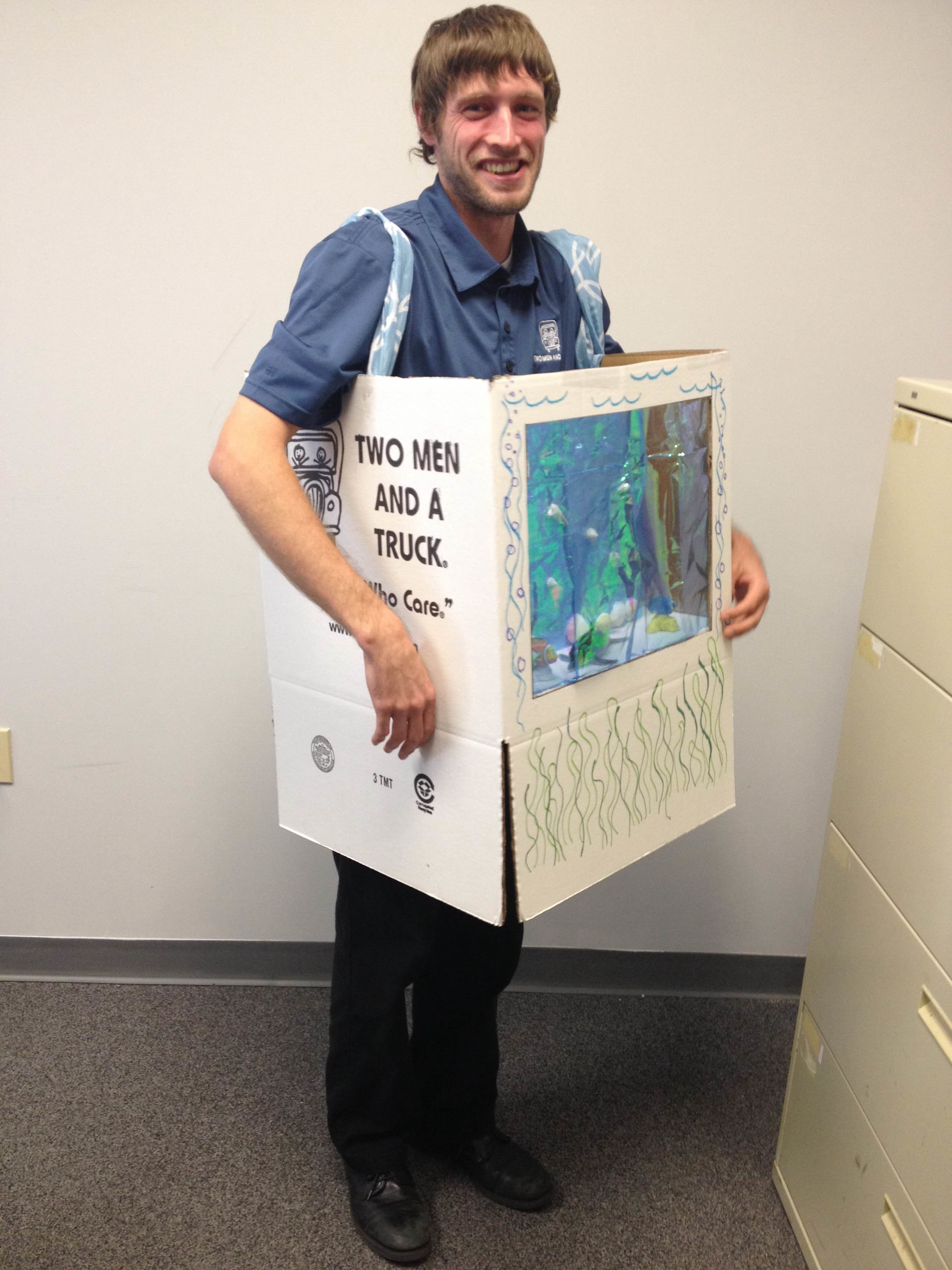 chris in a fishtank halloween costume - Halloween Box Costumes