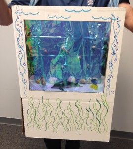 Fishtank costume close-up