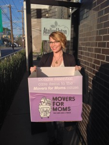 The Atelier Upton Salon partnered with Art by Jessyca Myers to raise money and donations for Movers for Moms!