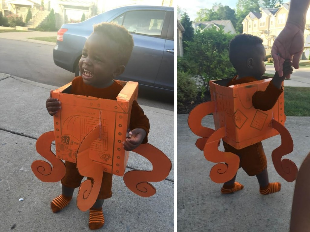 How to make a Hank the Septopus costume out of a TWO MEN AND A TRUCK moving box