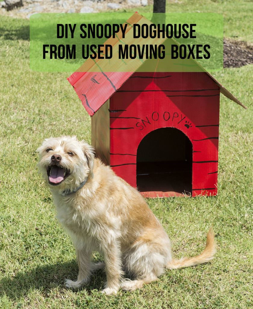 How to make a Snoopy Doghouse out of moving boxes