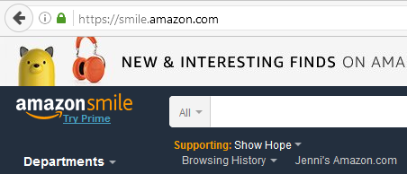 Amazon Smile lets you buy Christmas presents while donating part of your purchase to your favorite Nashville charity.