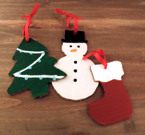 Make special Christmas gift tags out of TWO MEN AND A TRUCK boxes