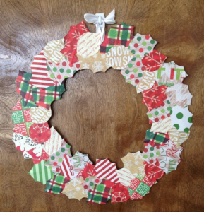 Make a Christmas wreath out of an old moving box from TWO MEN AND A TRUCK