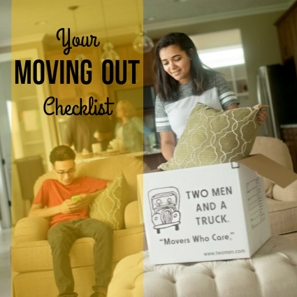 TWO MEN AND A TRUCK's checklist for moving out of a house or apartment