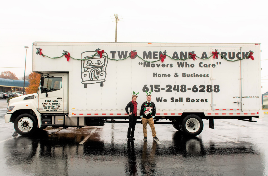 TWO MEN AND A TRUCK Nashville at the 2016 Donelson Hermitage Christmas Parade