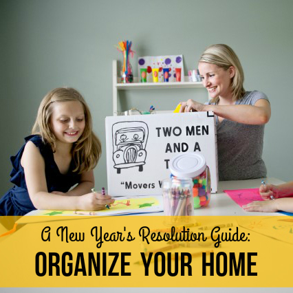 TWO MEN AND A TRUCK Nashville's checklist for organizing your home this new year
