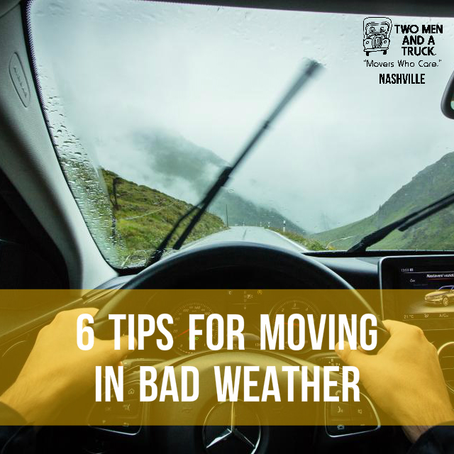 TWO MEN AND A TRUCK tips for moving during bad weather