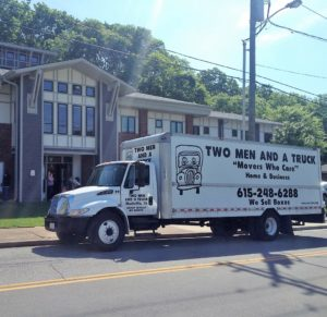 TWO MEN AND A TRUCK delivers the Movers for Moms donations to Safe Haven Family Shelter in Nashville