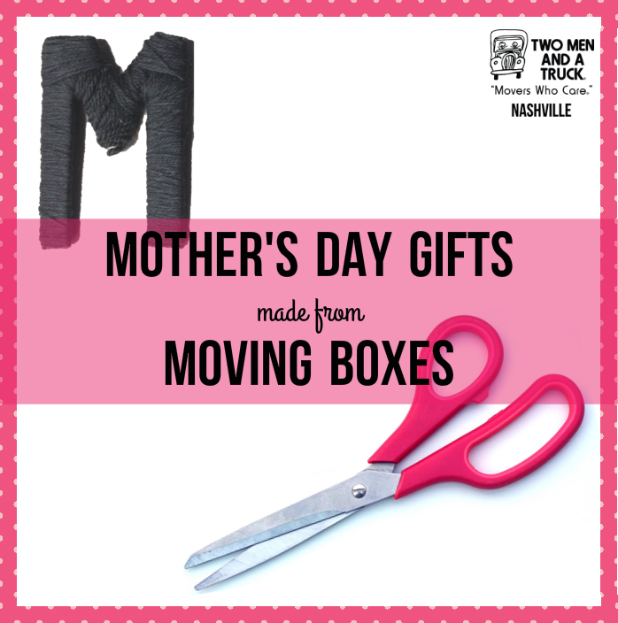 DIY Mother's Day Crafts you can make out of cardboard moving boxes