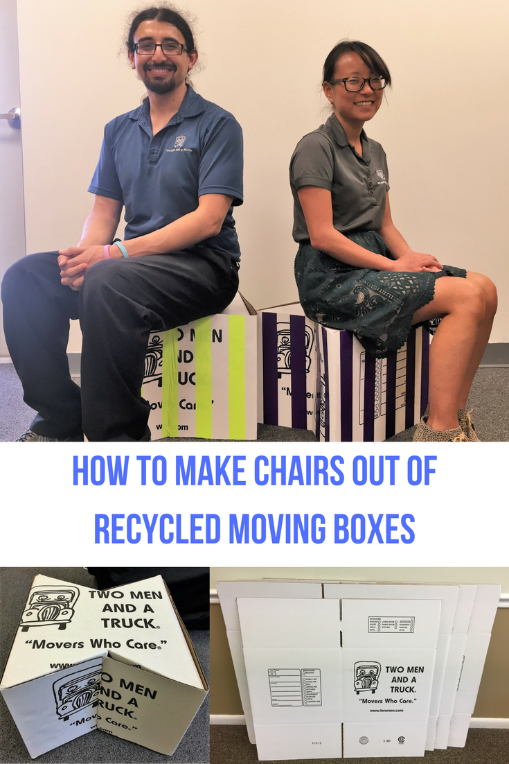 How to make diy chairs out of two men and a truck moving boxes